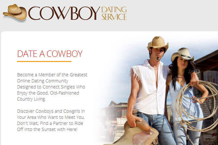 Cowboy Dating Service homepage