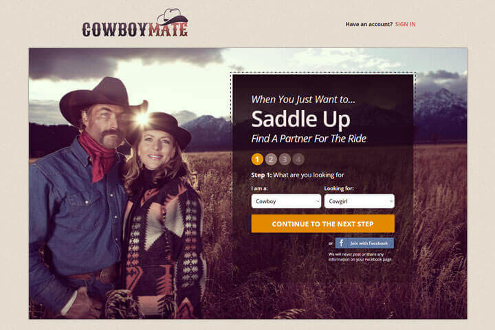 Cowgirls and cowboys dating site