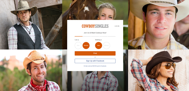 Cowboy Singles printscreen homepage